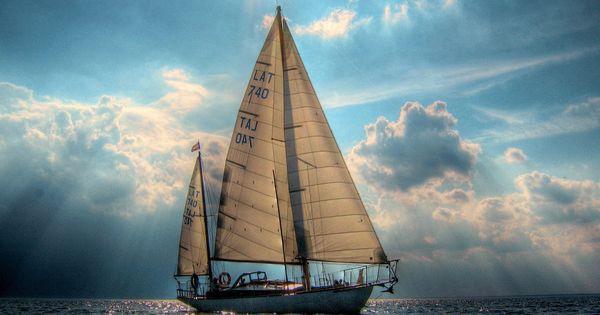 Sailboat in the ocean.