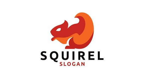 Squirrel inspired logo