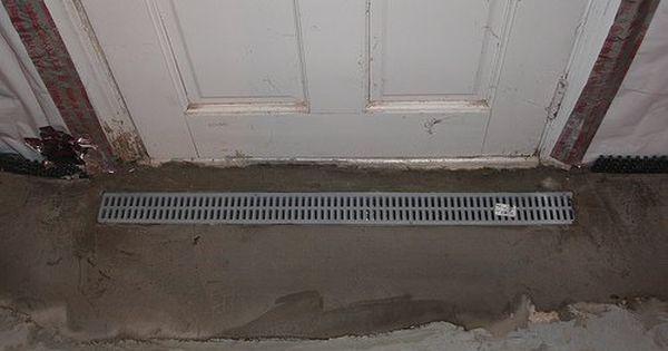 Installing Basement Entry Drain Flooded Basement Waterproofing Basement Basement Entrance
