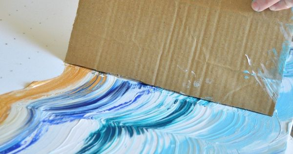 Tutorial / Cardboard painting