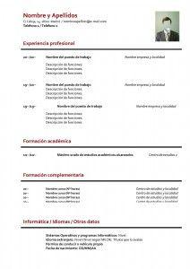 Plantilla De Curriculum Vitae Básico Sin Experiencia Curriculum Vitae Curriculum Job Resume Samples