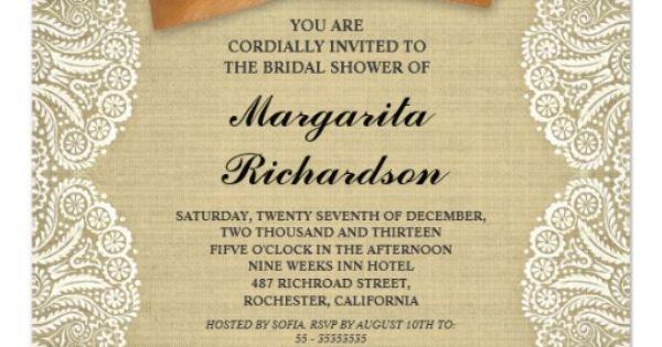 explore burlap bridal showers
