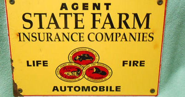 State Farm Insurance Agent Sign 35 00 State Farm Insurance State Farm Advertising Signs