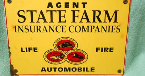 State Farm Insurance Agent Sign 35 00 Art Vintage