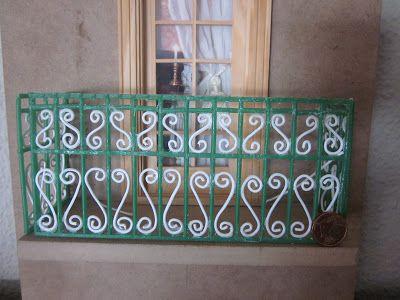 Casa De Muñecas DHD312 KIT de Hágalo usted mismo balcón trajes puertas sin pintar