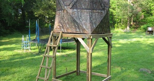 Elevated ground blind platform field stream ideas for Deer hunting platforms