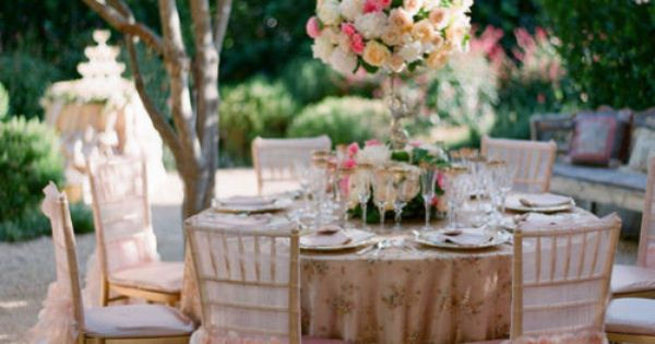 Soft pink, blush pink ruffle chair covers