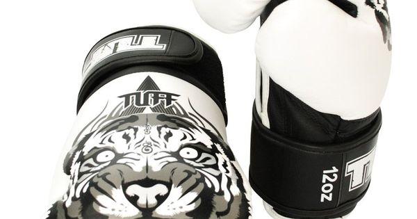 Shiv Naresh Teens Boxing Gloves 12oz: Tiger Fancy Boxing Gloves (White) By Tuff On Guruwan.com