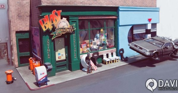 back to the future part 2 blast from the past diorama 1 43 scale miniature visit http www. Black Bedroom Furniture Sets. Home Design Ideas