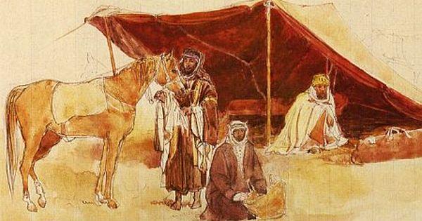 February 2008 Clouddragon Arabian Tent Horses Art