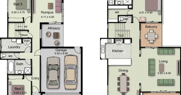 Reverse 2 Storey Home With The Main Living Area Up The Top