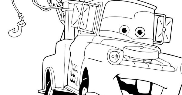 Mater the Tow Truck coloring page | Jack's room ...