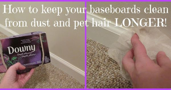 tuesday tips how to keep your baseboards clean from dust and pet hair longer household. Black Bedroom Furniture Sets. Home Design Ideas
