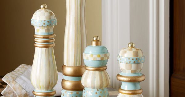 Hand Painted Parchment Check Salt Amp Pepper Mills Are Like
