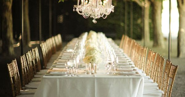 Beautiful outdoor table setting.