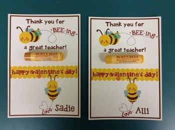 Valentine Thank You For Beeing A Great Teacher Bee Valentine Honey Valentine Teacher Valentine