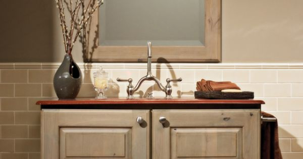 Rustic Bathroom Vanity By Dura Supreme Cabinetry I Mountain Resort Style Pinterest