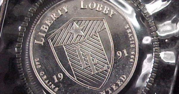 1991 Liberty Lobby 1 2 Oz Pure 999 Fine Silver Round In Original Plastic Ebay Silver Bullion Silver Fine Silver