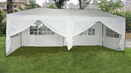 Mcombo White 10x20 Ft Easy Pop Up Wedding Canopy Party Tent Gazebo With Side Walls And Carry Case You Can Get Additional Gazebo Tent Wedding Canopy
