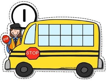 Back To School Counting Mats 1 10 School Bus Counting Mats