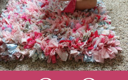 Rag rug tutorial - Super easy technique....easy to personalize & super cute for kids rooms and bathrooms.