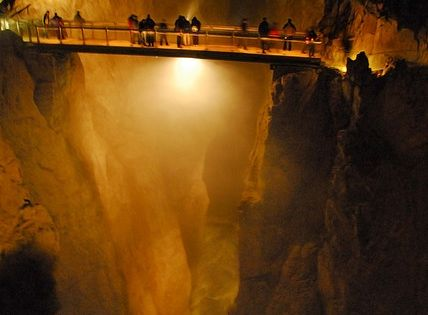 Slovenian Caves - the GrandCanyon that is underground beforeidie photography bridge light