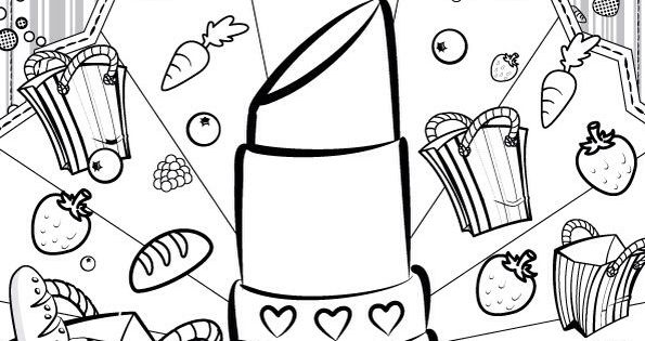 25+ Creative Picture of Lips Coloring Page - birijus.com | 315x600