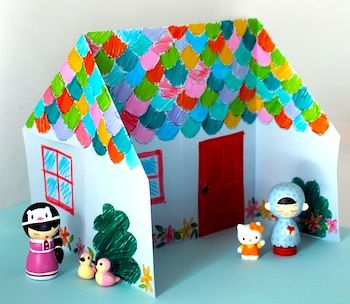 Origami Doll House Tutorial Diy Doll House Crafts Origami Easy Paper Crafts