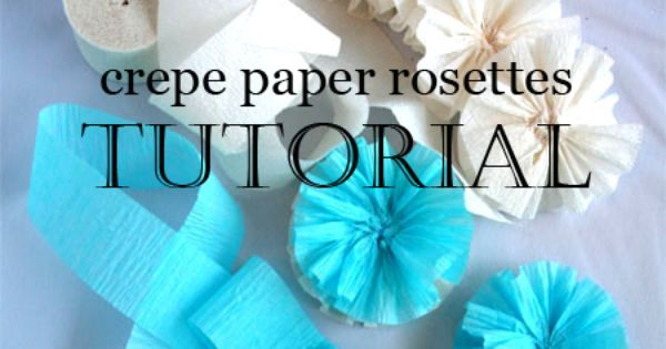 Crepe paper rosettes. Great recruitment idea!