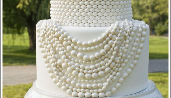 Pearlspearlspearls!! Pearl Necklace Cake by Sweet Grace Cake Design