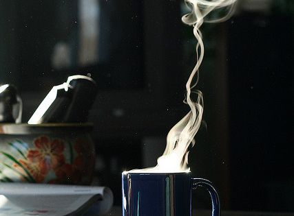 hot coffe on a cold morning