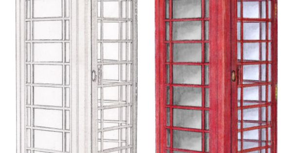 Telephone Box Drawing Google Search Drawing Ideas