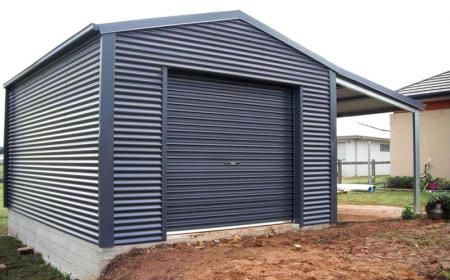 Single Garage With Lean To Shed N Homes Shed Diy Shed Plans Steel Sheds