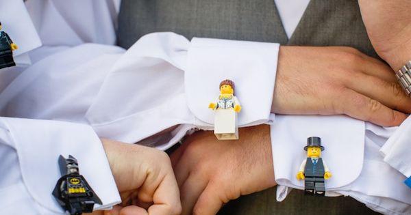lego cufflinks for the boys