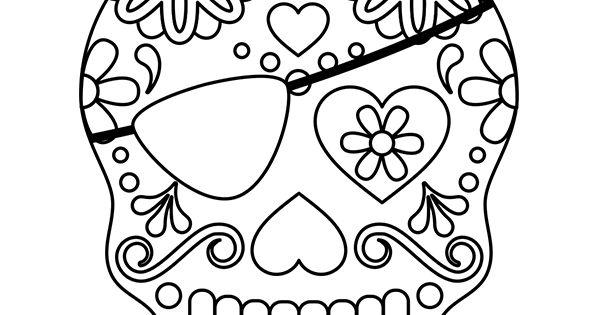 Coloriage squelette sucre coeur et pirate sur - Hugo l escargot com coloriage ...
