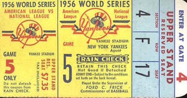 Vintage Baseball Memorabilia Tickets World Series Tickets Baseball Ticket Vintage Lettering