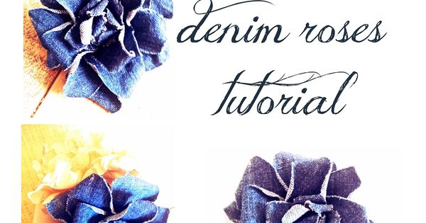 denim roses tutorial