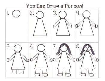 Step By Step How To Draw A Person Kindergarten Drawing Art