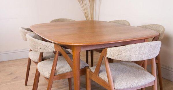Vintage Retro Danish Dining Table and 6 Kai Kristiansen  : 25457a3d9deb86d8170331412d347442 from www.pinterest.com size 600 x 315 jpeg 26kB