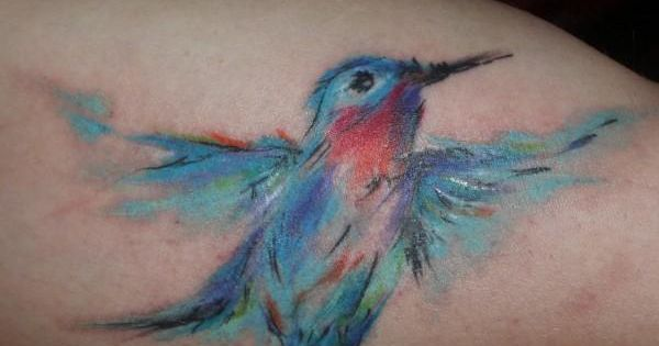 I love the water color tattoo idea