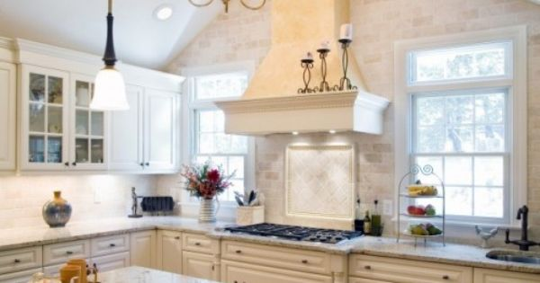 Windows Next To Hood Traditional Kitchen By Divine Kitchens Llc The Heart Of The Home