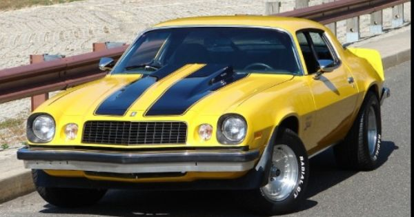 Favorite car, yellow 79 Camaro with dual black racing ...