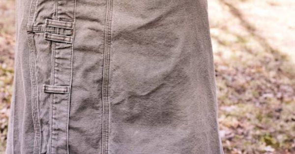 Man's Pants To Skirt.... WAY cool idea!!