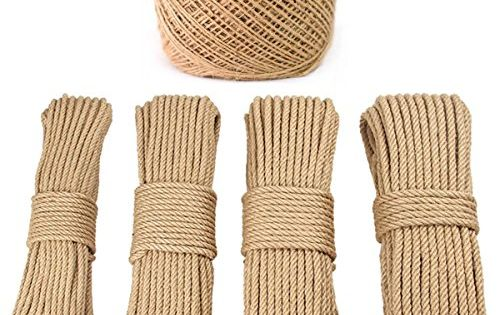 Pyjtrl Manila Rope 1 12 1 8 1 6 1 5 1 4 X Several Lengths 5mm 1 5inch X 200 Feet Available In Widths Of 1 12 1 8 1 6 Amazone Macrame