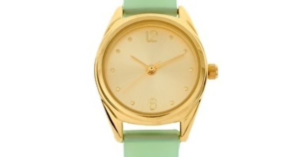 Mint /gold Watch