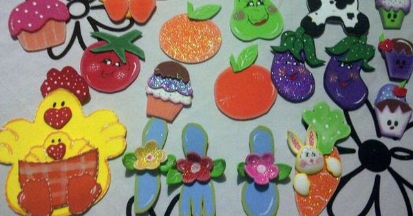 Lindas Frutas De Foami Para La Nevera Imagui Crafts Sugar Cookie Dolls