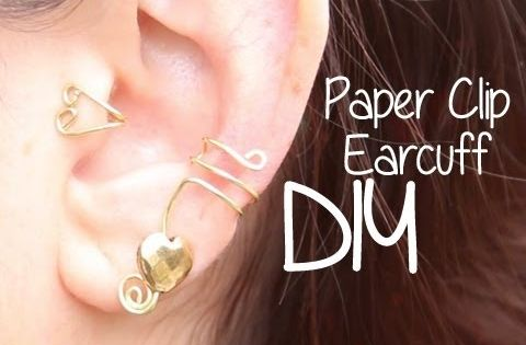 Ear cuffs using paper clips! No piercings required!