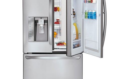 LFX31945ST LG Super Capacity 3 Door French Door Refrigerator with Door In