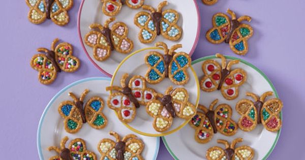 Butterfly Snacks... Cute for a kid to take to school as a