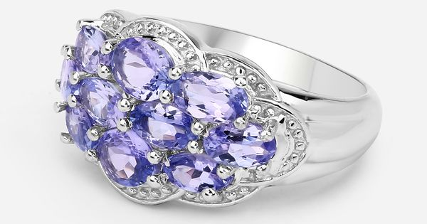 Details about  /Real Tanzanite Cluster 925 Sterling Silver December Birthstone Precious Ring